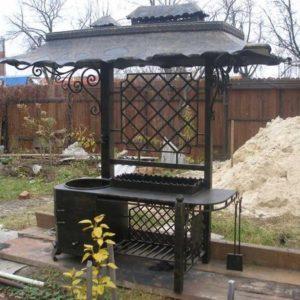 Кованный мангалы с казаном, жаровни и коптильни для дома и дачи