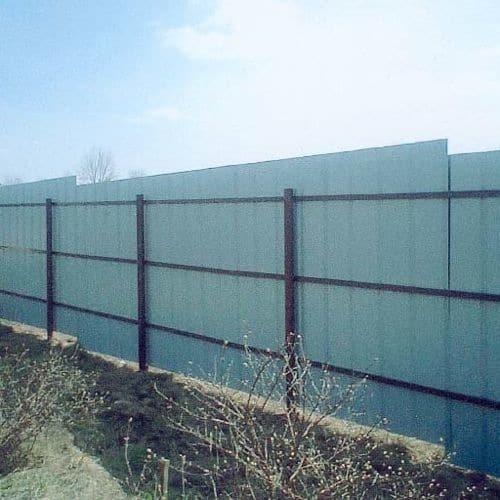 Забор из листов