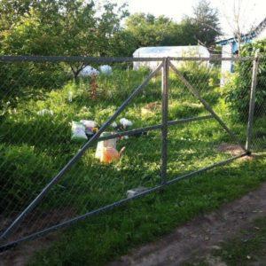 Забор из сетки рабица город Ковров