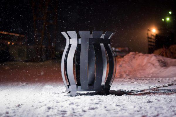 Фото костровая чаша Бочонок из металла в Коврове