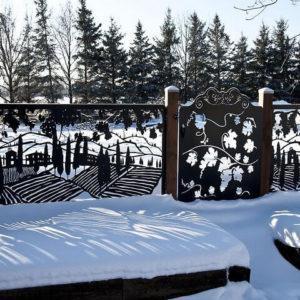 Лазерная резка забор