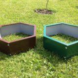 Клумбы и грядки из оцинкованной стали для дачи и сада