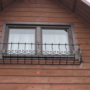 Кованая Цветочница уличная на окно фото и цена