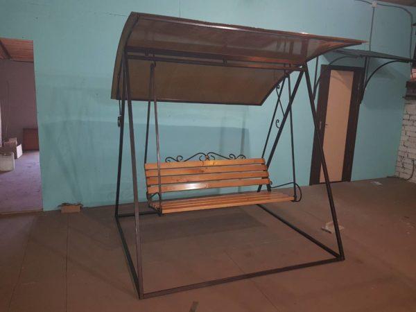 фото и цена садовые качели для дачи из металла купить