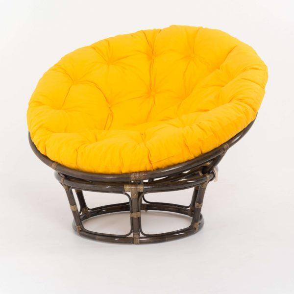 Жёлтое Кресло Papasan из Ротанга фото и цена Ковров