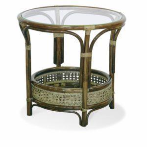 Стол со стеклом из Ротанга фото Ковров