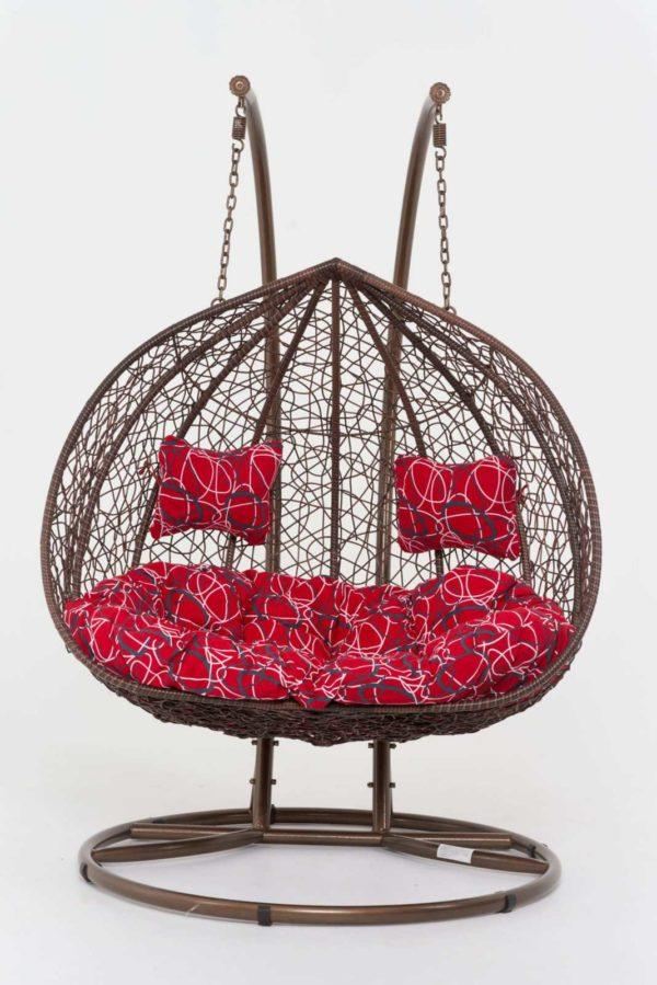 Подвесное кресло из ротанга с мягкими подушками Ковров фото