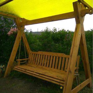 Фото качели из дерева для дачи в Коврове