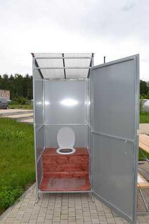 Дачный туалет из оцинкованного профиля в Коврове