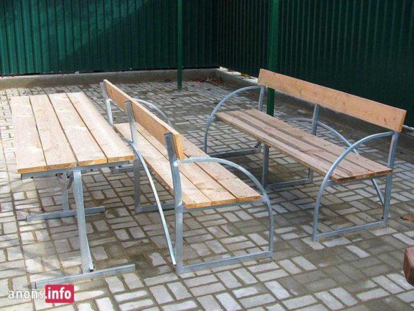 Столы, лавочки и скамейки из оцинковки в Коврове