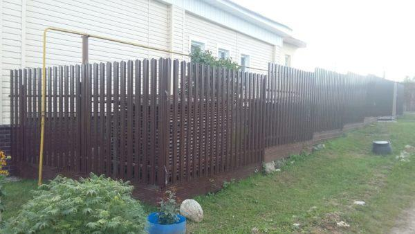 Забор из металлического штакетника в Коврове