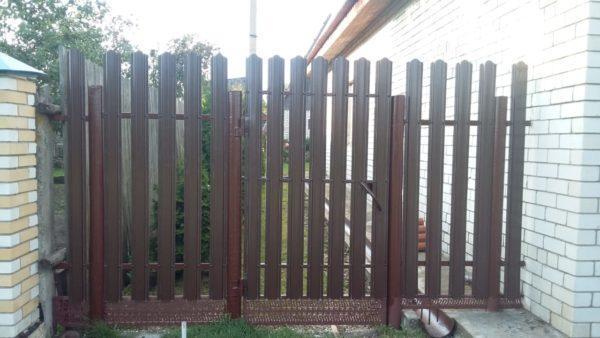 Забор из штакетника 1,8 метров с калиткой